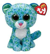 """TY Beanie Boo LEONA  (blue leopard) Large 16"""""""