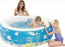 Kids Outdoor Inflatable Water DOODLE Pool - 150 X 52cm With Washable Crayons