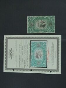 Nystamps US Revenue Stamp # RB10a Used $11000 Weiss Certificate j23yn