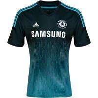 Chelsea FC Adidas childrens 3rd blue short sleeve football shirt 2014-15 F48671
