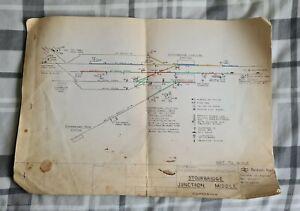 BRITISH RAIL Stourbridge Junction LMR Signalling Signal Sidings Railway Plan