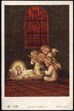 "santino-holy card""""ediz. NB serie 15  n.28 GESU' BAMBINO E GLI ANGELI"