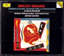 James LEVINE: BERLIOZ REQUIEM Luciano PAVAROTTI 2CD La Corsaire Carnaval Romain