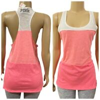 Victorias Secret Pink Smooth Racerback Tank Top multicolort size large