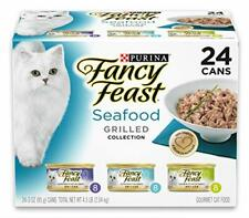 Purina Fancy Feast Gravy Wet Cat Food Variety Pack; Seafood Grilled, 24 Cans