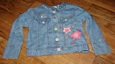 NAARTJIE KIDS TODDLER GIRLS SIZE 5 ADORABLE LONG SLEEVE DENIM JACKET