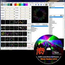 ISHOW versione 2.31g ILDA laser show software incl. USB ILDA interface e cavo