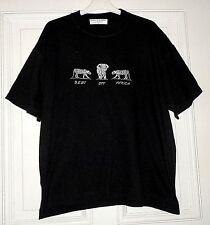 Herren T-Shirt Kurzarm BEST OFF Gr. XL schwarz mit Motiv Elefant und Tiger