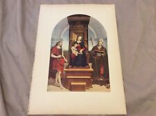 Antique Book Print -The Virgin and Child (Ansidei Madonna) - Raphael - 1910