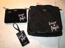 Victoria's Secret Forever An Angel 3 Piece Travel Set Luggage Tag, Make Up Bag