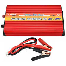 2500W Car Vehicle Power Inverter Converter Adapter Dual DC12V to 220VAC