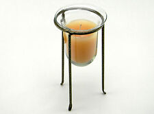 """FLORA-VASE CANDLE HOLDER W/ FLORA-LIFE SCENTED FLOATING CANDLES OVERALL HIGHT 8"""""""