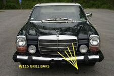 MERCEDES W115 NEW GRILLE MOULDINGS 1 VERTICAL & 6 HORIZONTAL 200 220 230 240D