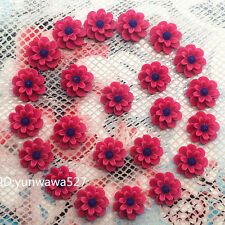 NEW 20pcs red Resin flower flat back Scrapbooking For phone/craft