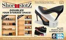 6-Pack High-Heel Shoes Shelf Storage Rack No-Slide Display Space Saver Organizer