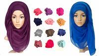 Ladies Big Large Maxi Plain Viscose/Rayon Shawl Scarf Hijab Sarong Wrap Cape