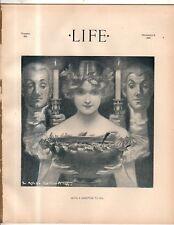 1899 Life Christmas; Santa Claus; Queen Victoria dolls; Kissing the black woman