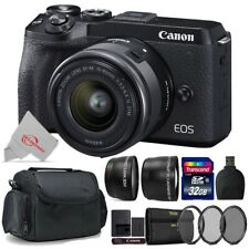 Canon EOS M6 Mark II Mirrorless Digital Camera with 15-45mm + Top Accessory Kit