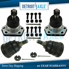 New 4pc Kit: (2) Front Upper and (2 Lower Suspension Ball Joint Assembly for 2WD