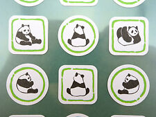 Japanese panda bear stickers! Kawaii Japan animal stickers, playful panda cubs