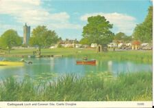 LOVELY OLD POSTCARD - CARLINGWARK LOCH & CARAVAN SITE - CASTLE DOUGLAS 1991