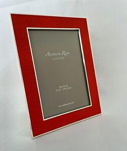 "Photo Frame Red/Orange  Addison Ross London 4"" x 6"" 10cm x 15cm"