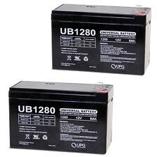 UPG 2 Pack - 12V 8Ah Scooter Bike Battery Replaces 7Ah OD 6-DW-7 MK ES7-12 (12V,