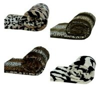 New Luxuries Fur Mink ANIMAL PRINTED Throws, Super Soft Sofa bed Blanket Throws
