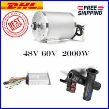 Electric Brushless Dc High Speed Motor Complete Kit 48V 60V 2000W 4600RPM EBike