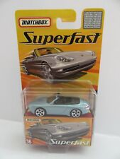 Matchbox Superfast No.36 Porsche 911 Carrera Cabriolet - Light Blue - Mint/Boxed