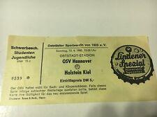 OSV Hannover gegen Holstein Kiel 1980 Fußball Ticket Fußball Soccer