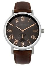 FCUK French Connection Mens Gents Wrist Watch Brown Strap FC1259T