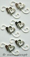 Artoz Artwork 3D-Sticker, Herzen silber glanz, Hochzeit, Liebe