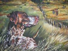 GSP german shorthaired Pointer CANVAS  PRINT painting dog LSHEP 12x16