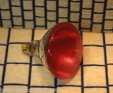 NEW 100 WATT RED 120V outdoor PYREX LIGHT BULB PAR38 sub BR38 incandescent