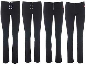 MISS SKINNY girls black stretch hipster skinny sexy school trousers  sizes 6-14