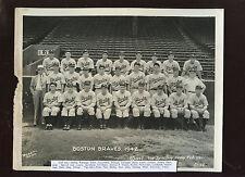 Original 1942 The Sporting News Boston Braves Baseball Team 8 X 10 Photo