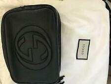 Gucci black leather soho disco bag with receipt