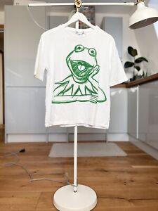 ZARA THE MUPPETS DISNEY T-Shirt top tee Kermit The Frog Miss Piggy Size S Small