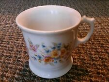 old vintage coffee cup mug glass flowers floral kitchen home decor art feminine