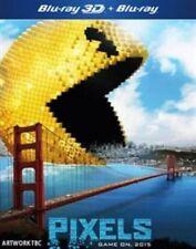 & Pixels Blu Ray 3d 2015 DVD Genuine R2 Adam Sandler