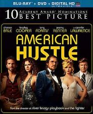 American Hustle: Christian Bale, Jennifer Lawrence (Blu-ray +DVD+HDUV) 2014, NEW