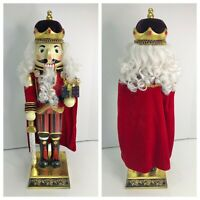 """Bombay 2006 Exclusive Nutcracker King 24"""" with Sword Red Velvet Wood Christmas"""