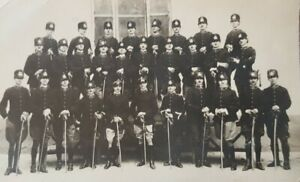 Original late 19th or early 20th century Italian army POSTCARD officers & swords