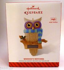 2014 Hallmark - Whoooo's Watching - Magic Solar Motion Owl - Eyes Move - NEW