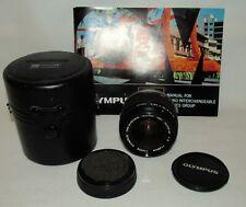Olympus OM-System Zuiko MC Auto-W 28mm f/2 Lens w/ Caps Case Manual Clean!