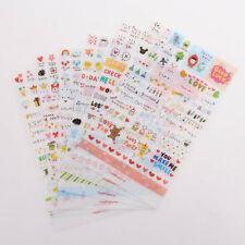 6 Sheets Word Expression Diary Transparent Sticker Calendar Album Deco Sticker