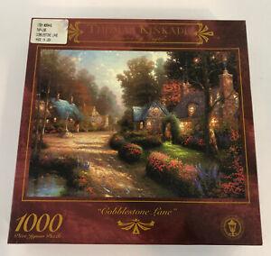New Sealed Thomas Kinkade Cobblestone Lane 1997 1000 Piece Puzzle 27x20
