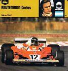 REUTEMANN Carlos ( FERRARI ) : Fiche Pilote Collection