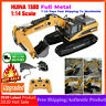 HuiNa 1580 1:14 Full Metal Excavator 23CH 3 in 1 Engineering Crane Vehicle